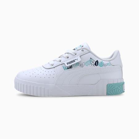Cali Jungle Kids Mädchen Sneaker, Puma White-Gulf Stream, small