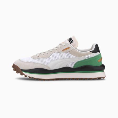 Zapatos deportivos Style Rider Stream On, Puma White-Vaporous Gray 01, pequeño