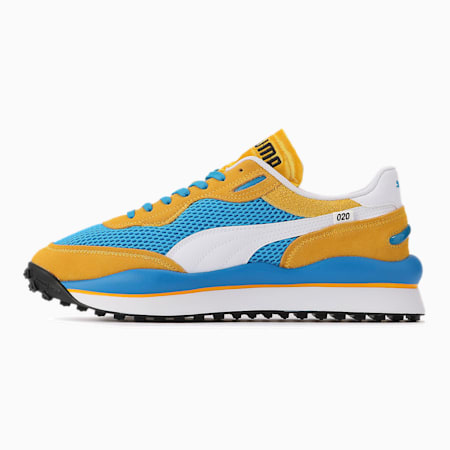 Style Rider Stream On Trainers, Plat Blue-Spectra Yellow, small