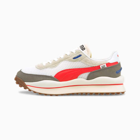 Style Rider Stream On Trainers, Puma White-Vaporous Gray, small