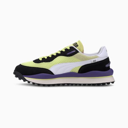 Style Rider Stream On Trainers, Sunny Lime-Puma Black, small