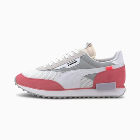 Style Rider Stream On Trainers, Puma White-Bubblegum, small