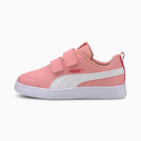 Courtflex V2 Kids' Trainers, Peony-BRIGHT ROSE, small-SEA