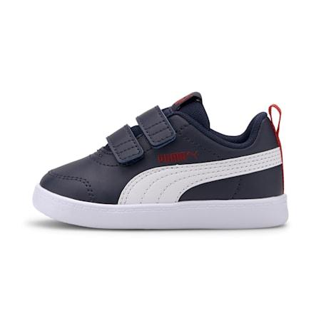 Dziecięce obuwie sportowe Courtflex V2, Peacoat-High Risk Red, small