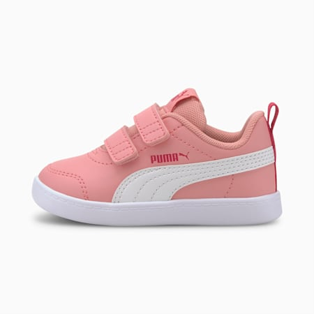 Courtflex V2 Babies' Trainers, Peony-BRIGHT ROSE, small-SEA