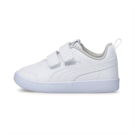 Courtflex V2 sportschoenen voor baby's, Puma White-Gray Violet, small