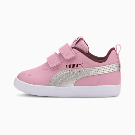 Courtflex V2 Babies' Trainers, Pale Pink-Puma Silver, small-SEA