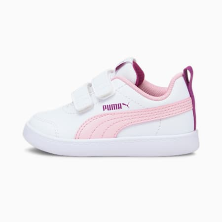 Courtflex V2 Babies' Trainers, Puma White-Pink Lady, small
