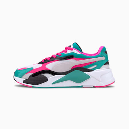 RS-X Plastic Trainers, Puma White-Fluo Pink, small