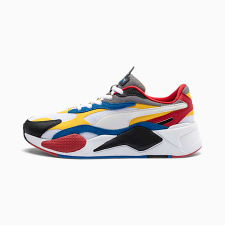 RS-X³ Puzzle Sneaker, PWhite-Spectra Yellow-PBlack, small