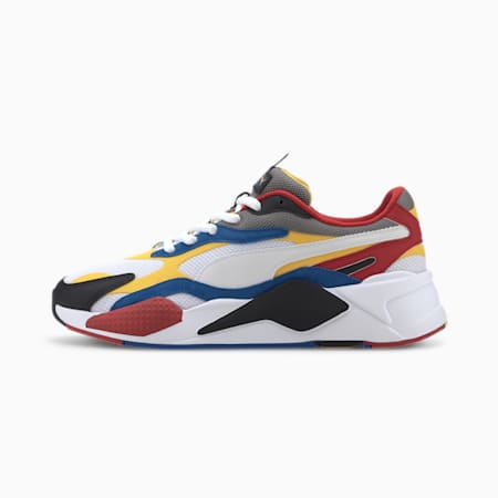 RS-X³ Puzzle Men's Sneakers, PWhite-Spectra Yellow-PBlack, small