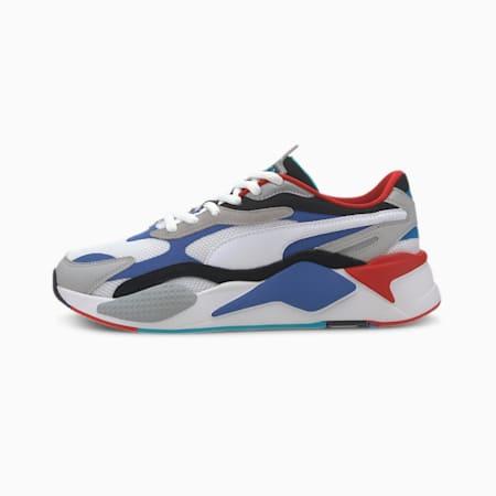 RS-X³ Puzzle Men's Sneakers, PWhite-Dazzling Blue-Hi Rise, small