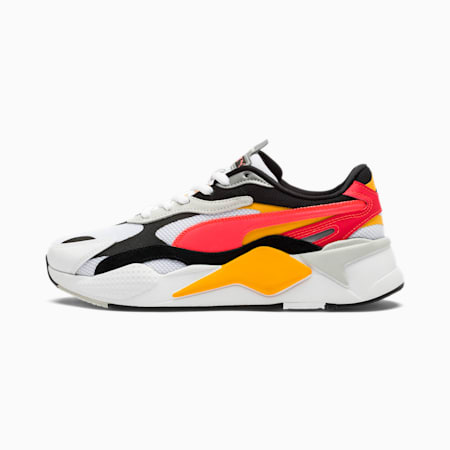 RS-X Puzzle Trainers, Puma White-Lava Blast, small