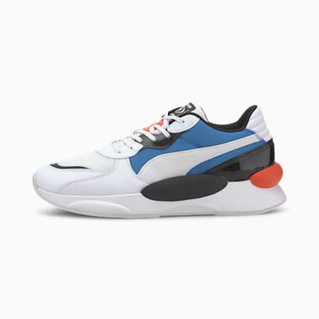 RS 9.8 Fresh Trainers, Puma White-Palace Blue, small