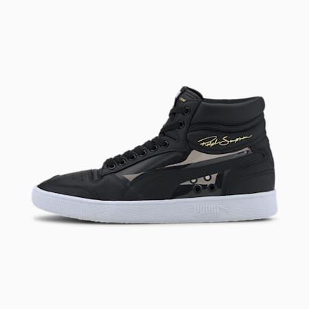 Zapatos deportivos de caña media Ralph Sampson Glass para hombre, Puma Black-Puma White, pequeño