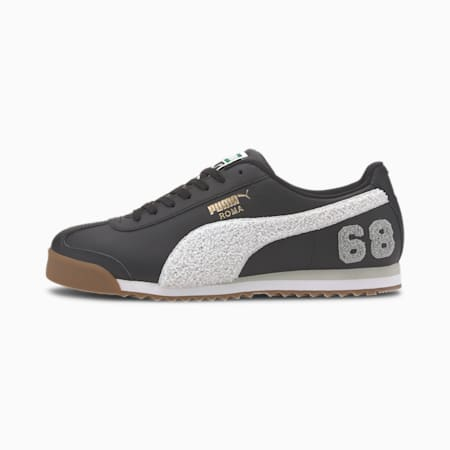 Roma '68 Lux Varsity Men's Sneakers, Puma Black-Puma White, small