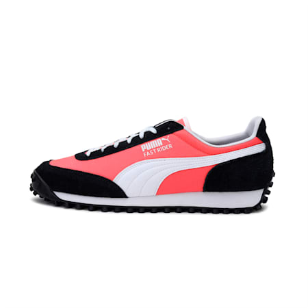 Fast Rider Source Shoes, Fiery Coral-Puma Black, small-IND