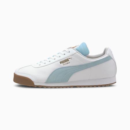 Roma Classic PUMA FC Men's Sneakers, Puma White-Aquamarine, small