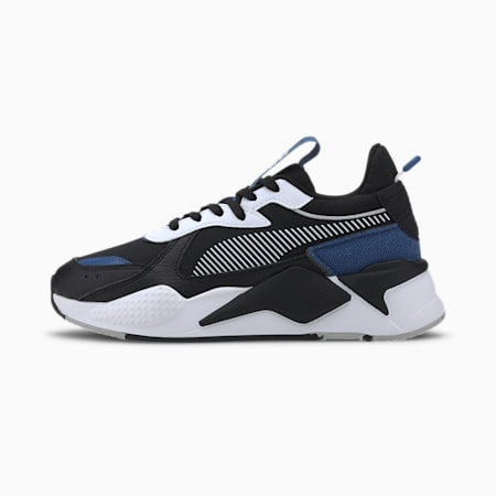RS-X Collegiate Youth Trainers, Puma Black-Bright Cobalt, small