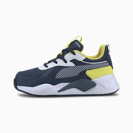 RS-X Collegiate Kids' Trainers, Meadowlark-Dark Denim, small