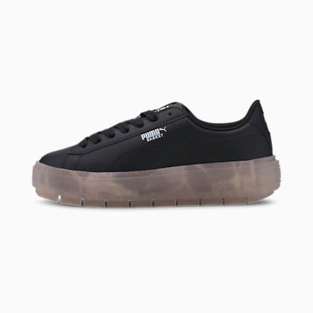 Zapatos deportivos Platform Trace translúcidos para mujer, Puma Black-Rosewater, pequeño