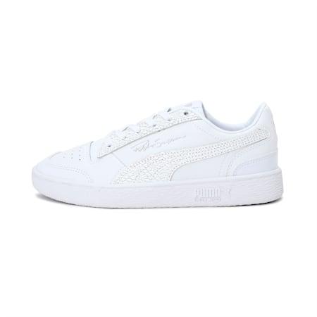 Ralph Sampson Lo Snake Women's Sneakers, Puma White-Metallic Silver, small-IND