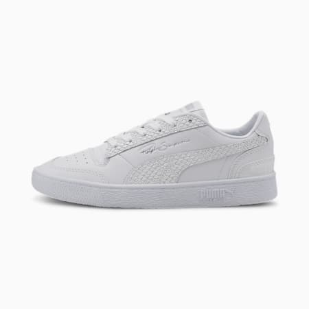 Zapatos deportivosRalph Sampson Lo Snake para mujer, Puma White-Metallic Silver, pequeño