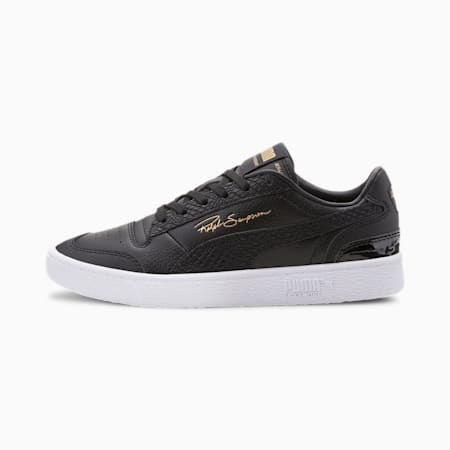 Ralph Sampson Lo Snake Women's Sneakers, Puma Black-Gold, small