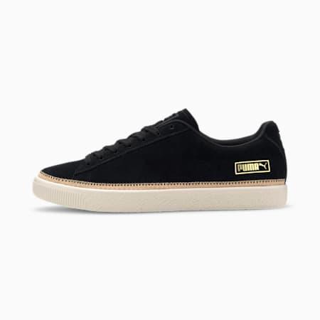 Suede Trim DLX Sneakers, Black- Vachetta-Whisper Whi, small