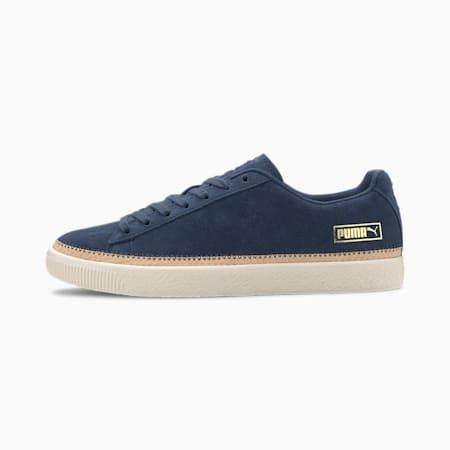 Suede Trim DLX Sneakers, Dark Denim- Vachett-Whisper, small