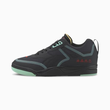 Palace Guard Er.ror Sneakers, Puma Black-Mist Green- Red, small