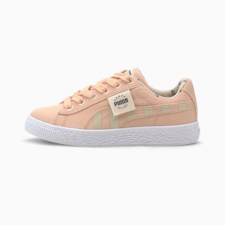 Time 4 Change Basket Canvas Little Kids' Shoes, Pink Sand-Tapioca, small