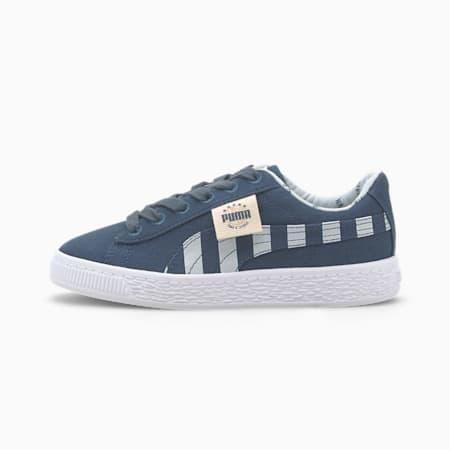 Time 4 Change Basket Canvas Little Kids' Shoes, Dark Denim-Plein Air, small