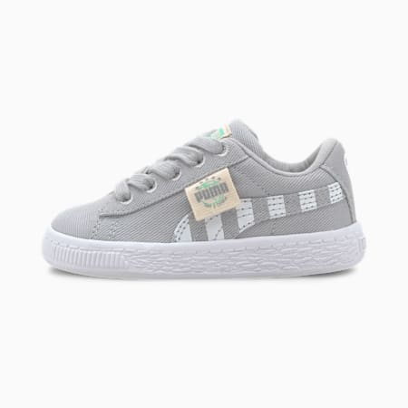 Basket Canvas T4C Babies' Trainers, High Rise-Green Glimmer, small