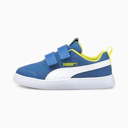 Courtflex V2 Mesh Kid's Shoes, Star Sapphire-Puma White, small-IND