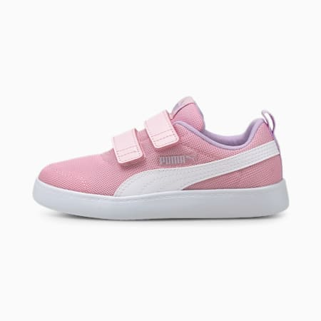 Courtflex V2 Mesh Kid's Shoes, Pink Lady-Puma White, small-IND