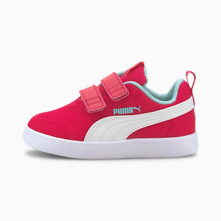 Courtflex V2 Mesh Babies' Trainers, BRIGHT ROSE-Gulf Stream, small-SEA