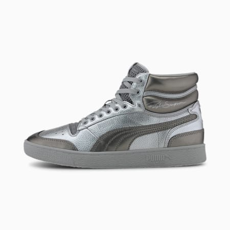 Ralph Sampson Mid Cloud Trainers, PSilver-PAgdSilver-Gry Violt, small-SEA