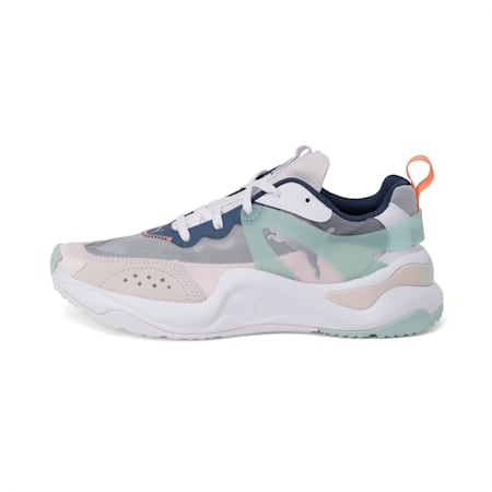 Rise Women's Shoes, White-Mist Green-Cantaloupe, small-IND
