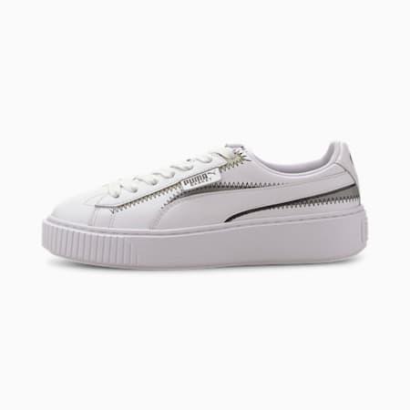 Platform Mixed Women's Sneakers, Puma White, small