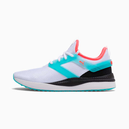 Pacer Next Excel Translucent Women's Training Shoes, Puma White-Milky Blue-Black, small