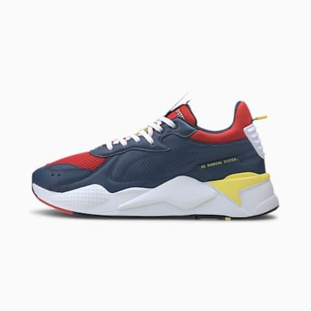 RS-X Master Men's Sneakers, Dark Denim-High Risk Red, small