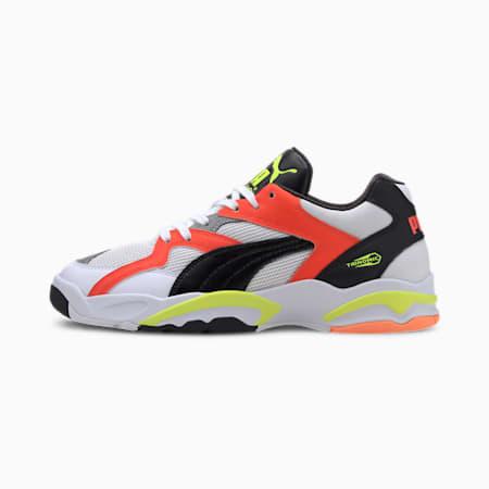 Performer Retro Sneakers, White-Lava Blast-Yellow, small-IND