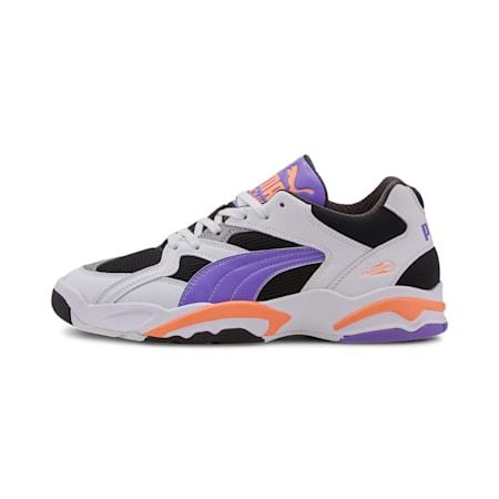 Performer Retro Sneakers, Black-Luminou Purple- Orange, small-IND