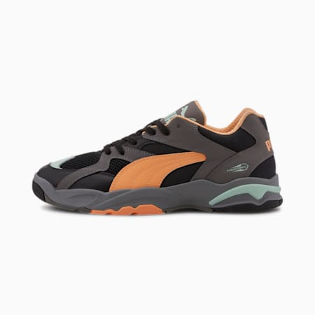 Performer Clay Trainers, Puma Black-Cantaloupe-Mist, small-SEA