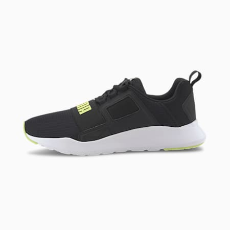 Wired Cage Sneakers, Puma Black-Sharp Green, small-IND
