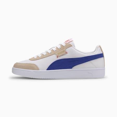 Court Legend Lo CV Sneaker, Wht-Blue-Tapioca-Gold-Coral, small