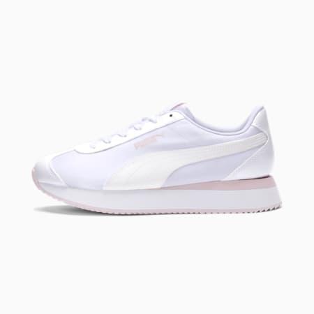 Turino Stacked Glitter Women's Sneakers, Puma White-Puma White, small
