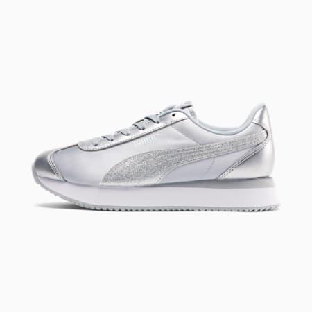 Zapatos deportivosTurinoStacked Glitter para mujer, Puma Silver-Puma Silver, pequeño