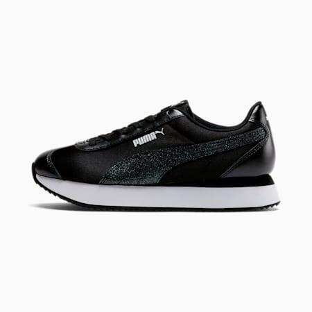 Zapatos deportivosTurinoStacked Glitter para mujer, Puma Black-Puma Black, pequeño